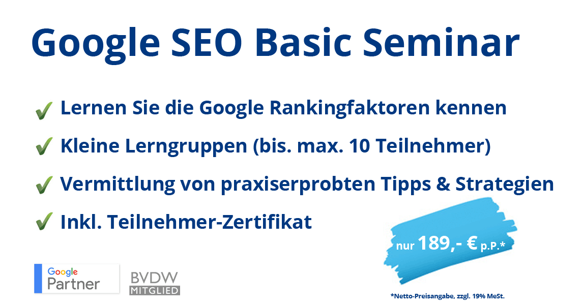 SEO Agentur, webnativ, Oliver Podzun, SEO Beratung, SEO Seminar
