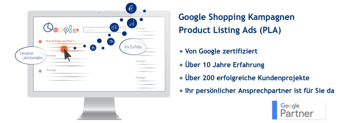 Google Shopping Kampagnen mit Product Listing Anzeigen