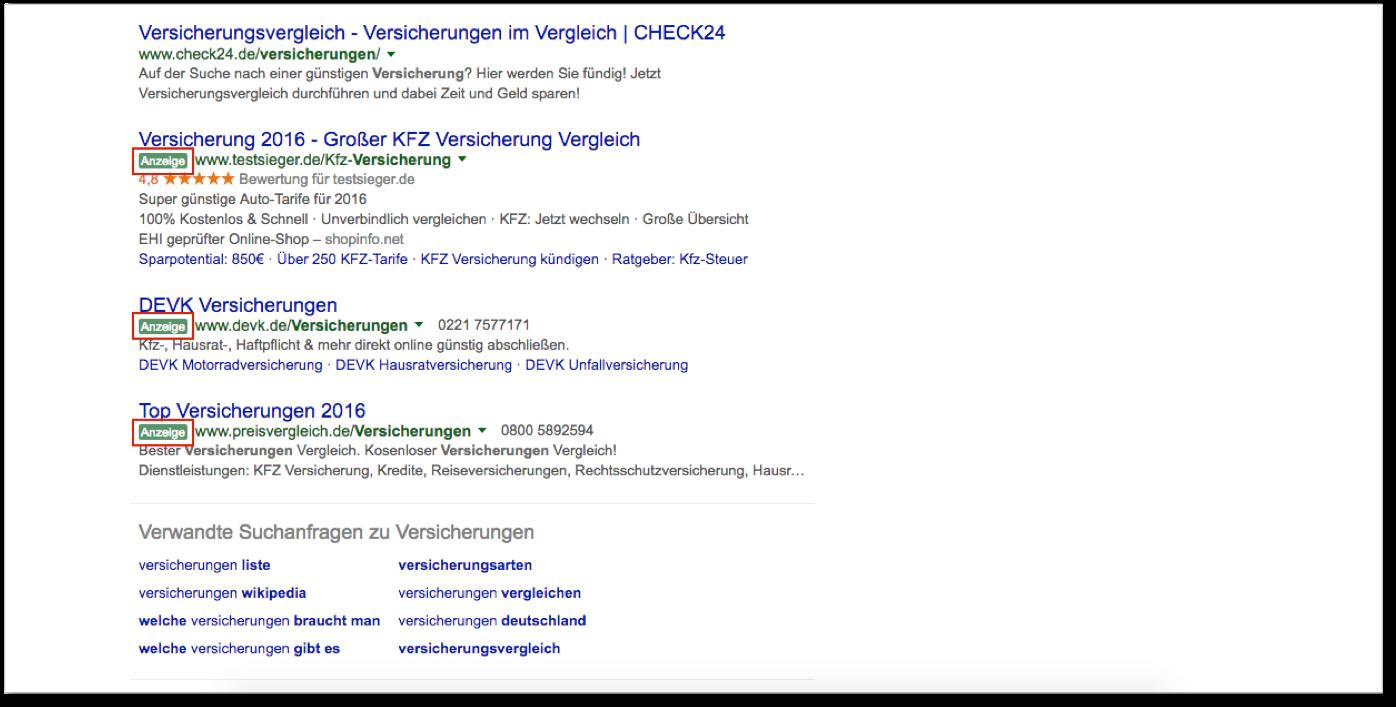 Google Suchnetzwerk Webnativ Online Marketing