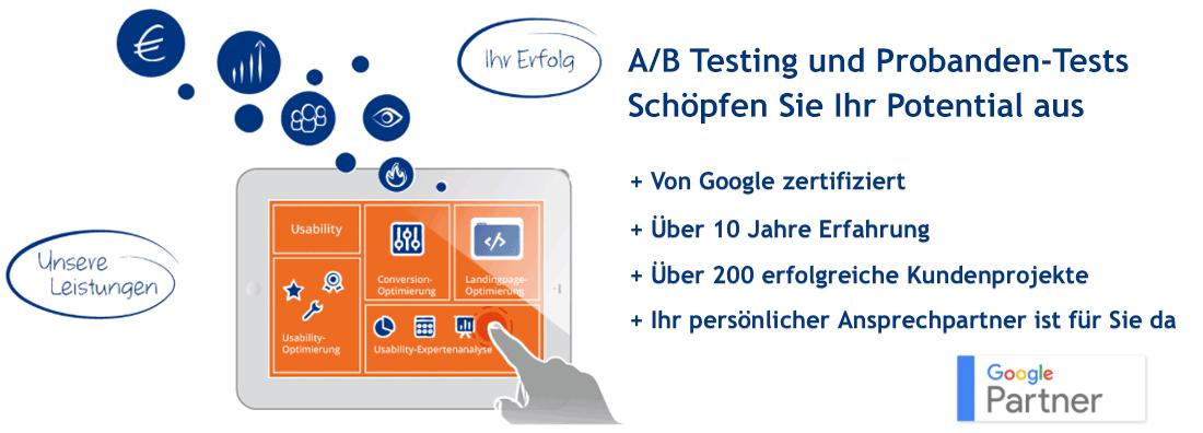 A/B Testing und zielgruppenspezifische Probanden-Tests