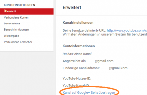 YouTube Kanal Administration