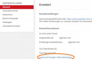YouTube Kanal Administration