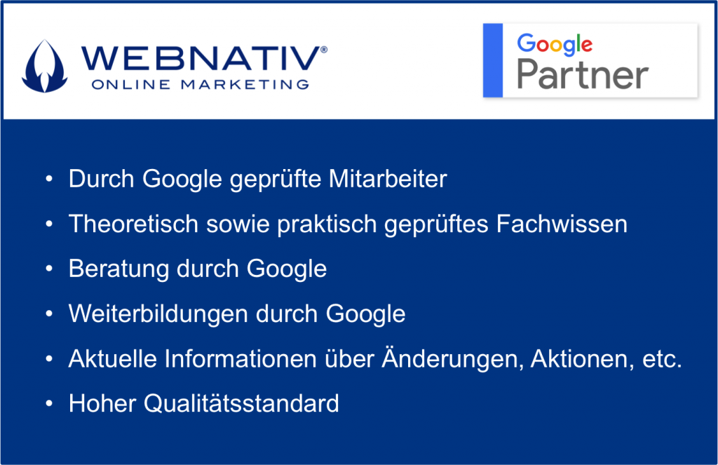 Vorteile Google Partner Agentur