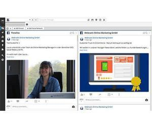 Übersicht des Social Media Verwaltungs- und Analyse-Tools Hootsuite