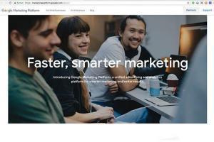 Startseite der neuen Google Marketing Platform