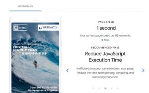 Google Pagespeed Tool Test My Site - Handlungsempfehlungen